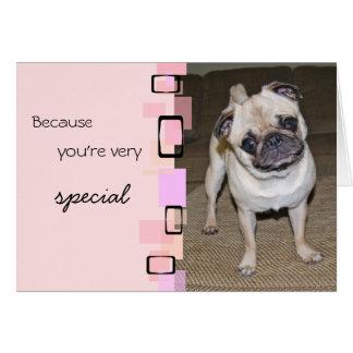 A Very Special Pug Birthday Card