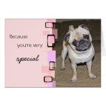A Very Special Pug Birthday Stationery Note Card
