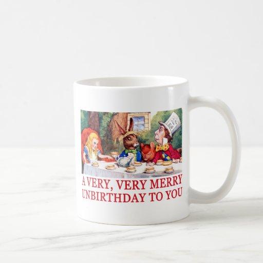 A VERY, VERY MERRY UNBIRTHDAY TO YOU! CLASSIC WHITE COFFEE MUG