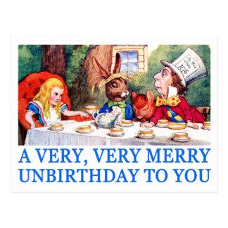 A VERY, VERY MERRY UNBIRTHDAY TO YOU! POSTCARD