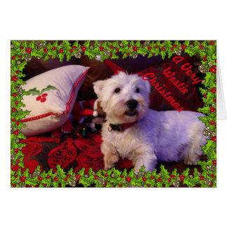 A Very Westie Christmas Card