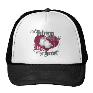 A Veteran holds the Key to my Heart Trucker Hat