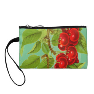 A vibrant bunch of cherries: 1901 illustration coin purse