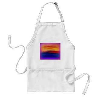 A vibrant colorful abstract contemporary design adult apron