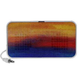 A vibrant colorful abstract contemporary design portable speaker
