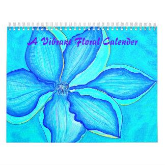 A Vibrant Floral Calender Calendar