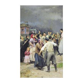 A victim of fanaticism, 1899 canvas print