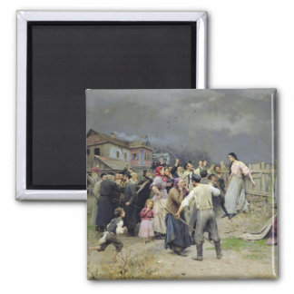 A victim of fanaticism, 1899 magnet