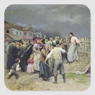 A victim of fanaticism, 1899 square sticker