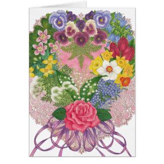 A Victorian Nosegay Valentine Card