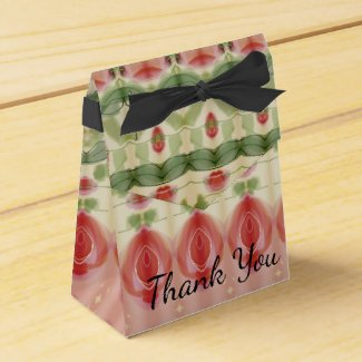 A Victorian Patterned Wedding Favor Box