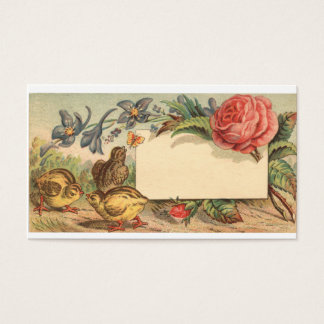 A  Victorian Spring Business Card