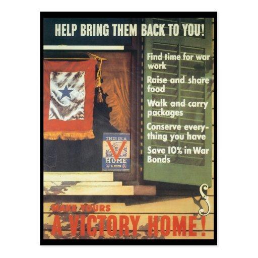 A Victory Home World War 2 Postcards