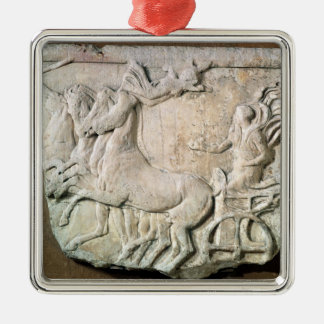 A victory in the four horse chariot race metal ornament