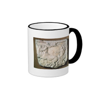 A victory in the four horse chariot race ringer coffee mug