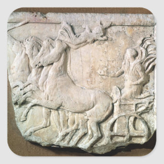 A victory in the four horse chariot race square sticker