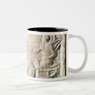 A victory in the four horse chariot race Two-Tone coffee mug