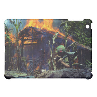 A Viet Cong Base Camp Being Burned in Vietnam War iPad Mini Case