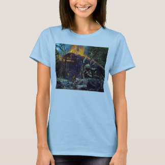 A Viet Cong Base Camp Being Burned in Vietnam War T-Shirt