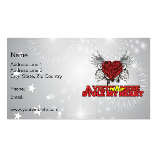 A Vietnamese Stole my Heart Business Cards
