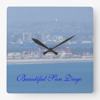 A View across the Ocean Square Wall Clocks