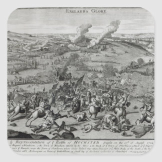 A View and Representation of  Battle of Square Sticker