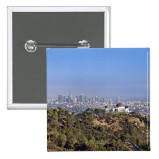 A view from a hiking trail in Griffith Park 2 Inch Square Button
