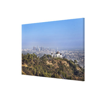 A view from a hiking trail in Griffith Park Canvas Print