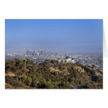 A view from a hiking trail in Griffith Park Card