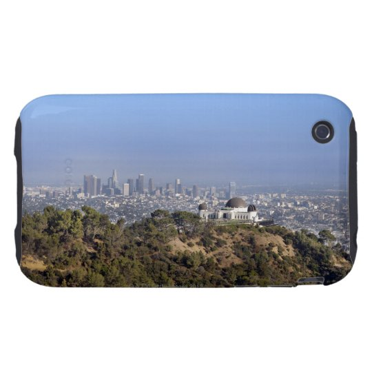 A view from a hiking trail in Griffith Park iPhone 3 Tough Case