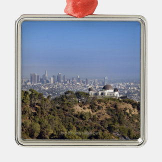 A view from a hiking trail in Griffith Park Metal Ornament
