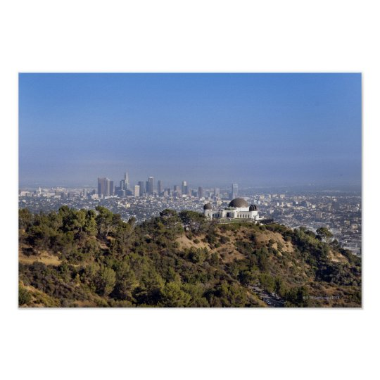 A view from a hiking trail in Griffith Park Poster