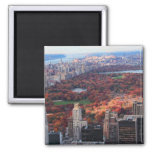 A view from above: Autumn in Central Park 01 2 Inch Square Magnet