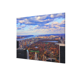 A view from above: Autumn in Central Park 01 Canvas Print