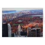 A view from above: Autumn in Central Park 01 Card