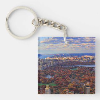 A view from above: Autumn in Central Park 01 Square Acrylic Keychains