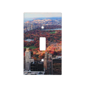 A view from above: Autumn in Central Park 01 Light Switch Cover