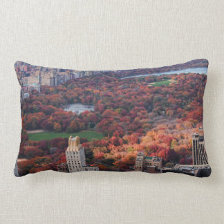 A view from above: Autumn in Central Park 01 Lumbar Pillow