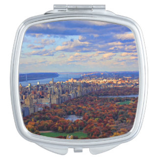 A view from above: Autumn in Central Park 01 Compact Mirrors