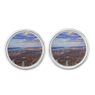 A view from above: Autumn in Central Park 01 Cufflinks