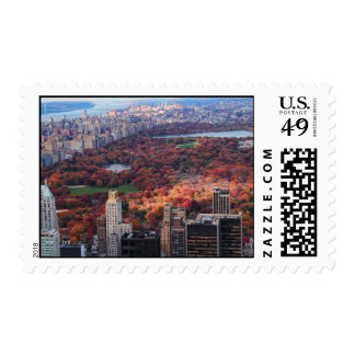 A view from above: Autumn in Central Park 01 Postage