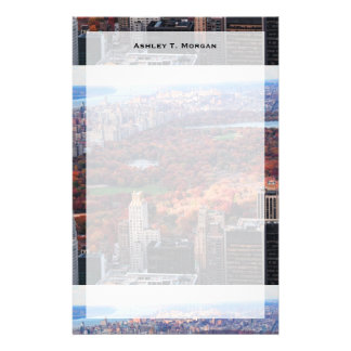A view from above: Autumn in Central Park 01 Customized Stationery