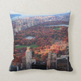 A view from above: Autumn in Central Park 01 Throw Pillow