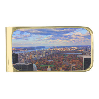 A view from above: Autumn in Central Park 01 Gold Finish Money Clip