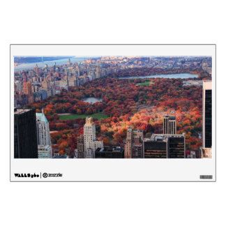 A view from above: Autumn in Central Park 01 Wall Sticker