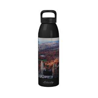 A view from above Autumn in Central Park 01 Reusable Water Bottle