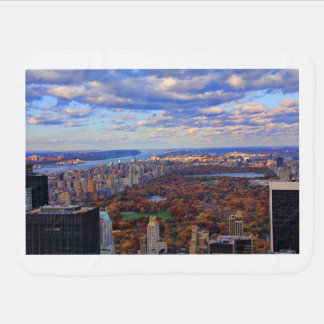 A view from above: Autumn in Central Park 01 Swaddle Blankets