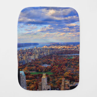 A view from above: Autumn in Central Park 01 Baby Burp Cloth