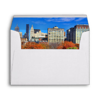 A view from Above: Autumn in Union Square Park NYC Envelope