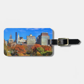A view from Above: Autumn in Union Square Park NYC Tag For Luggage